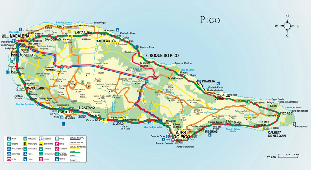 mapa do pico açores Pico mapa do pico açores