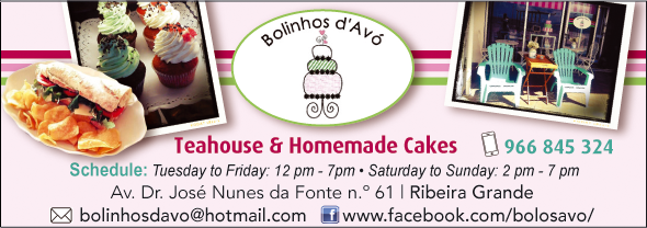 "Teahouse & Homemade Cakes ""Bolinhos D'Avó"""
